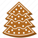 biscuit, christmas tree, cookie, gingerbread, pine tree, xmas icon