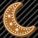 biscuit, winter, gingerbread, moon, cookie, xmas