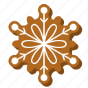 biscuit, cookie, floral, gingerbread, snowflake, xmas icon