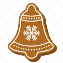 biscuit, ring, gingerbread, cookie, xmas, bell