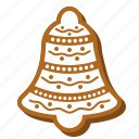 bell, biscuit, cookie, gingerbread, jingle bell, xmas icon