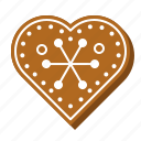 gingerbread, biscuit, heart, cookie, xmas, love