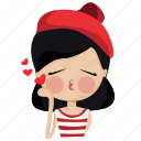 character, french, girl, love, person, valentine, woman icon