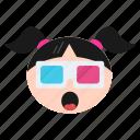 cool, emoji, emoticon, face, girl, happy, sunglasses, women