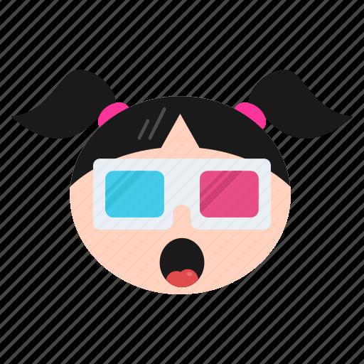 cool, emoji, emoticon, face, girl, happy, sunglasses, women icon