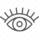 eye, eyelash, fashion, line, outline, sight, vision icon