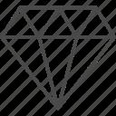 diamond, gem, gemstone, jewel, jewelry, line, outline icon