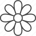 floral, flower, garden, line, nature, outline, plant icon