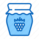 food, jam, jar, raspberry, sweet icon