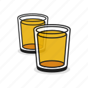 alcohol, beer, beverage, drink, glass, two, whiskey icon