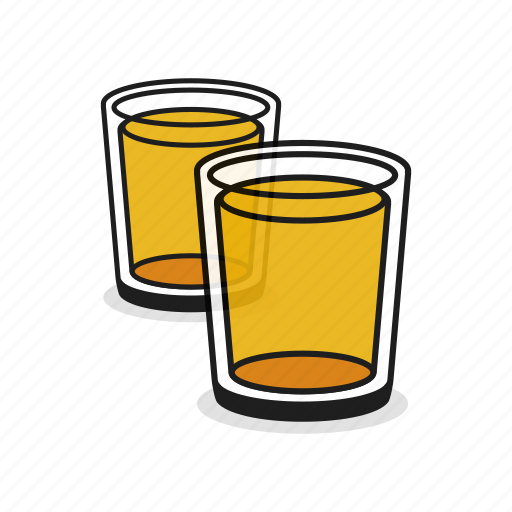Alcohol, beer, beverage, drink, glass, two, whiskey icon - Download on Iconfinder