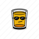 alcohol, beer, beverage, cool, drink, glass, sunglasses icon