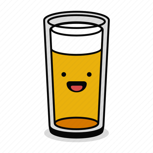 alcohol, beer, beverage, drink, glass, happy, smile icon