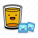 alcohol, beer, beverage, drink, glass, ice, smile icon