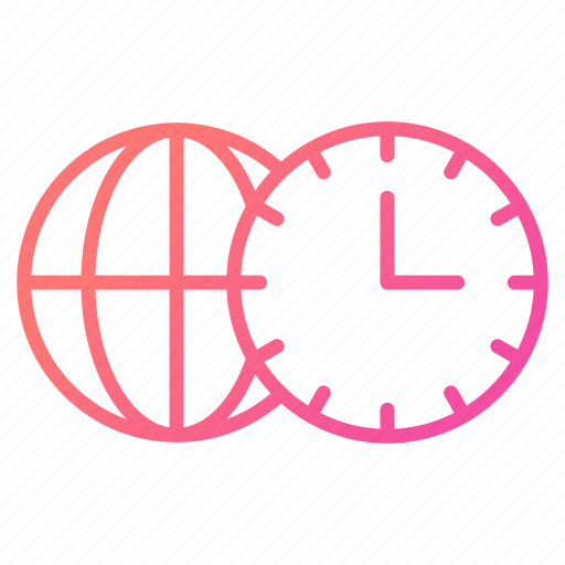 global business, schedule, time, watch, zones icon