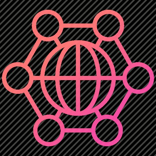corporation, global business, international, internet icon