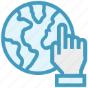 business, click, gestures, hand, international, world icon