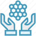 communication, connection, global business, hands, interaction, network icon