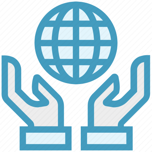 custom care, global business, global solution, hands, international service icon