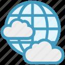 business, cloud, earth, globe, networking, server, world
