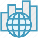 chart, data, global business, globe, graph, network, stats