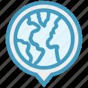 circle, distance, globe, map, pin, route, world