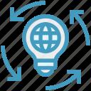idea, light bulb, globe, bulb, global business