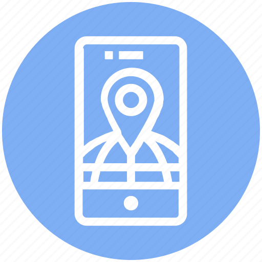 Global business, globe, gps, location, mobile internet, phone, pin icon - Download on Iconfinder