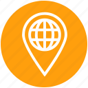 earth, globe, gps, location, pin, world icon