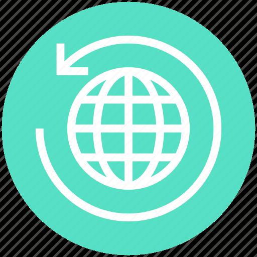 Around, arrow, global business, globe, globe sync, sync, world icon - Download on Iconfinder