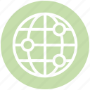 circle, cosmos, global business, globe, orbit, space, technology icon