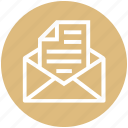 business, email, envelope, file, letter, message, paper icon