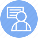 businessman, chart, office, user icon