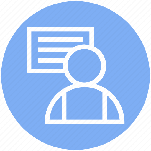 Businessman, chart, office, user icon - Download on Iconfinder