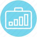 bag, business, chart, global business, graph, portfolio, work icon