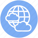 business, cloud, earth, globe, networking, server, world icon