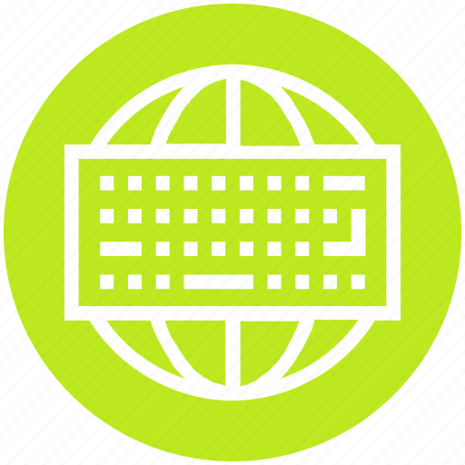 Computer keyboard, global network, globe, input device, internet, keyboard, technology icon - Download on Iconfinder