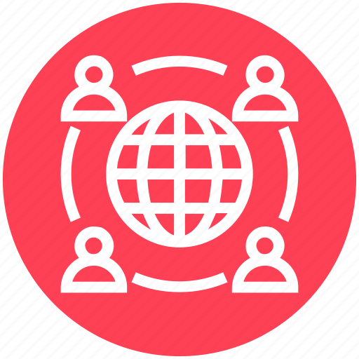 Earth, global business, globe, sharing, team, users icon - Download on Iconfinder