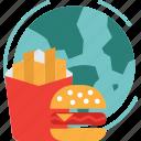 globalbusiness, fast, world, food, global icon