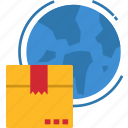 globalbusiness, international, package, shipping, global icon
