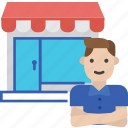 shop, globalbusiness, owner, entrepreneur, business icon