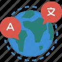 globalbusiness, communication, language, business icon