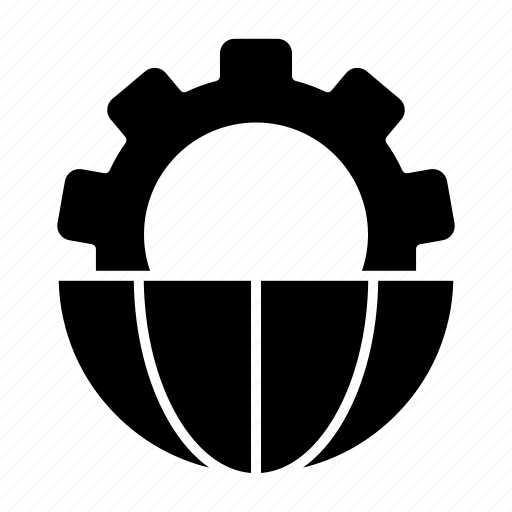 global, managment, processing icon