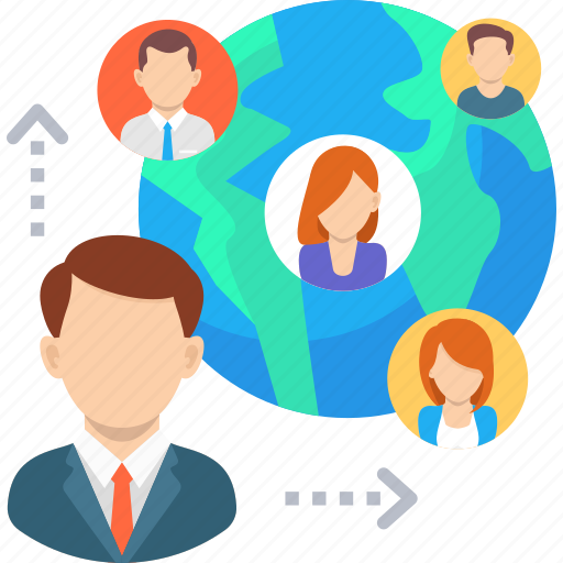 business, communication, conaction, corporation, international, network, web icon