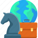 bag, business, chess, global, international, strategy icon