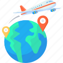 airplane, business, flight, global, international, travel icon
