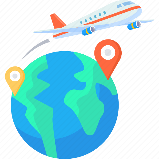 Airplane Business Flight Global International Travel Icon