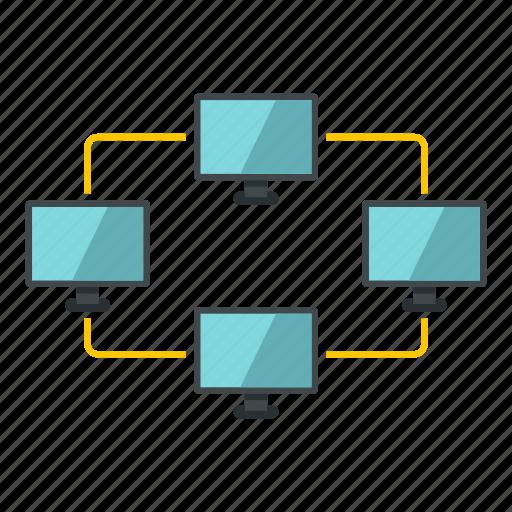 communication, concept, data, exchange, globe, media, network icon