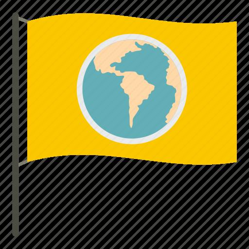 earth, flag, globe, map, planet, sphere, world icon