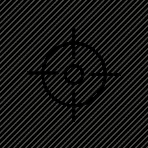 aim, crosshair, location, pin, shoot, target icon